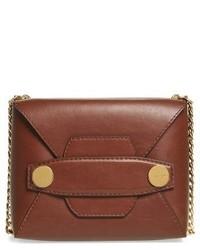 Stella McCartney Small Faux Leather Crossbody Bag Brown