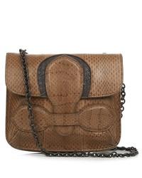 Bottega Veneta Small Snakeskin Cross Body Bag