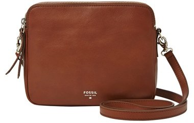 ... Fossil Sydney Leather Crossbody Bag Brown ... 295faee8b1eaa