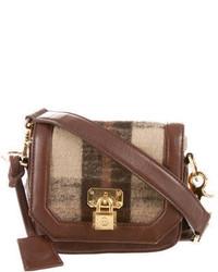 Tory Burch Wool Plaid Leather Crossbody Bag