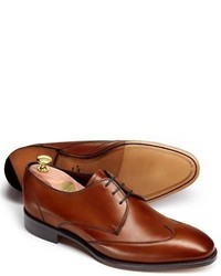 Charles Tyrwhitt Brown Olden Calf Wing Tip Derby Shoes