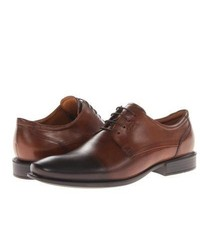 Ecco Cairo Perforation Tie Shoes Walnut Oxford Leather
