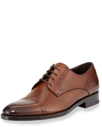 Ermenegildo Zegna Cap Toe Derby Shoe Brown