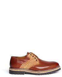 Armani Collezioni Cork Leather Saddle Derbies