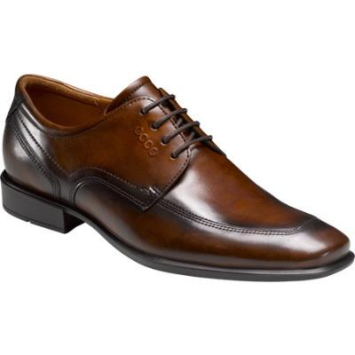 Cairo Apron Toe Tie Walnut Oxford Leather Lace Up Shoes. Brown Leather Derby  Shoes by Ecco 2433c02a51909