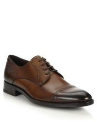 Ermenegildo Zegna Garrone Burnished Leather Derby Shoes