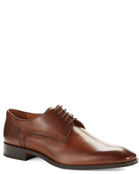 Black Brown 1826 Lace Up Leather Derby Shoes