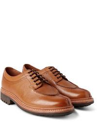 Grenson Percy Split Toe Pebble Grain Leather Derby Shoes