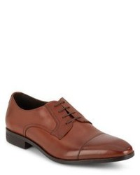 Saks Fifth Avenue Leather Cap Toe Derby Shoes