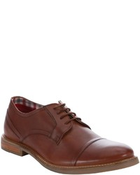 Ben Sherman Tan Leather Leon Lace Up Cap Toe Oxfords