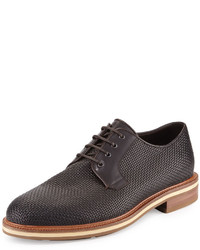 Ermenegildo Zegna Woven Leather Derby Shoe Brown