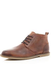 River Island Mens leather desert boots Rhgq72