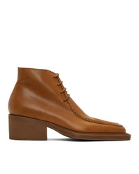 Y/Project Tan Duck Bill Ankle Boots