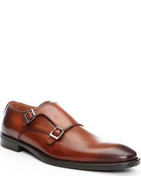Donald J Pliner Belen2 Monkstrap Saddle Leather Shoes