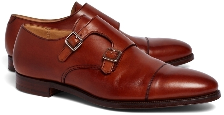 River Island Brown Double Monk Strap Shoes