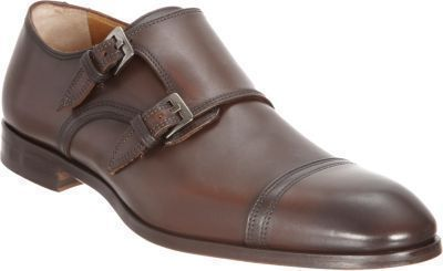 Barneys New York Cap Toe Double Monk