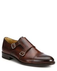 Saks Fifth Avenue Collection Double Monk Strap Shoes