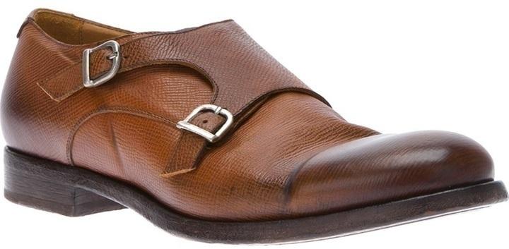 Doucal's Double Monk Strap Shoe