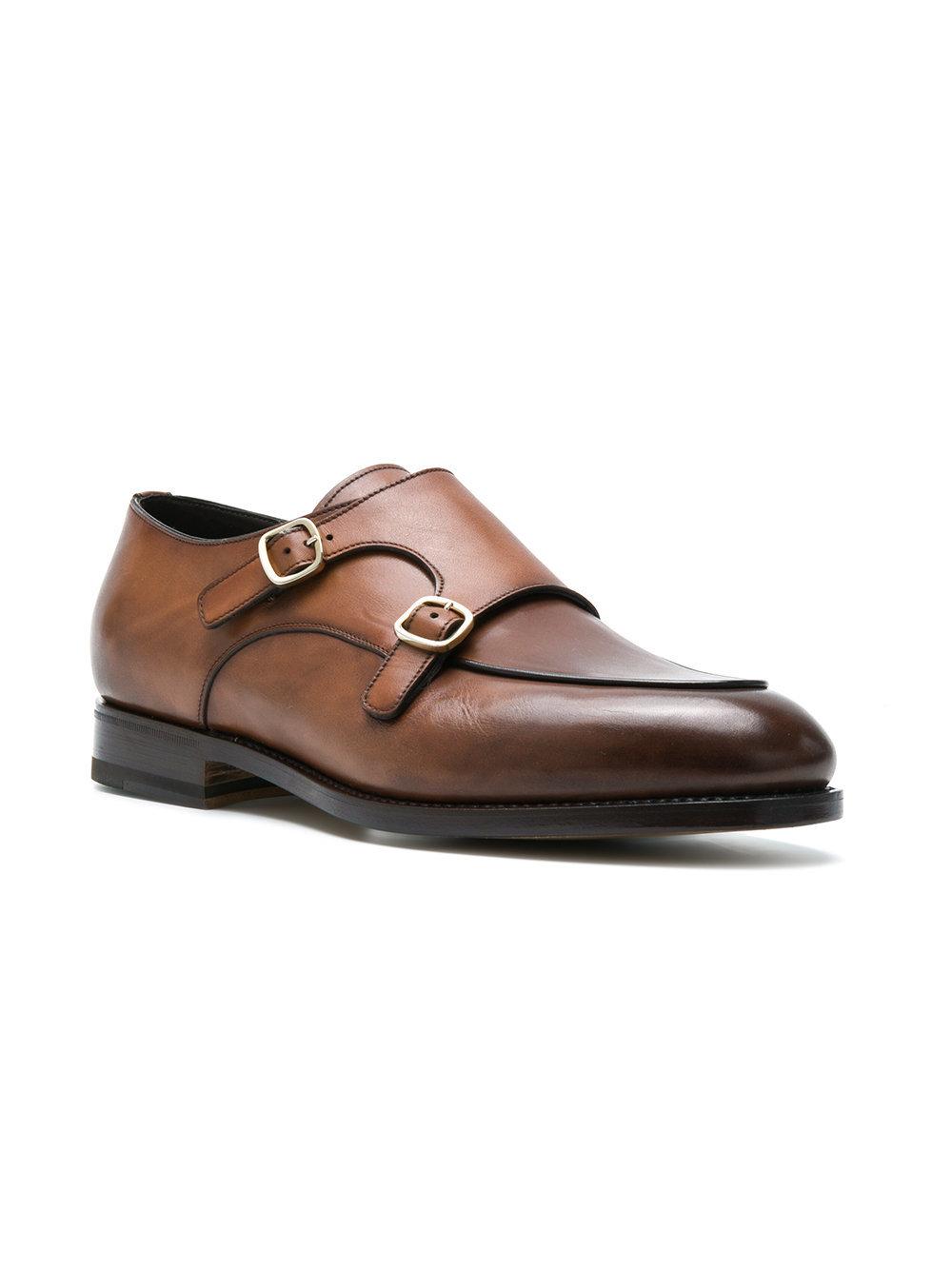 santoni monk strap shoes