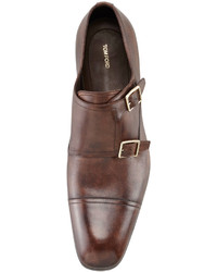 Tom Ford Edwin Double Monk Strap Loafer Dark Brown