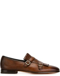 Santoni Fringed Monk Shoes