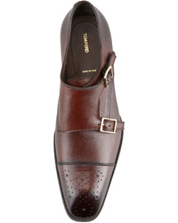 Tom Ford Gianni Double Monk Strap Loafer Brown