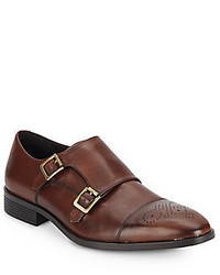 Saks Fifth Avenue Leather Monk Strap Dress Shoes