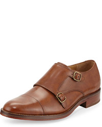 Cole Haan Madison Double Monk Leather Loafer British Tan