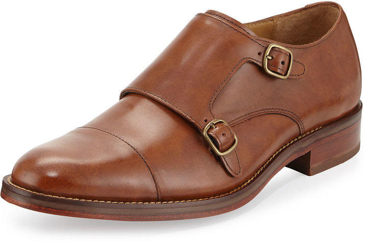 factory outlet pick up hot-selling $151, Cole Haan Madison Double Monk Leather Loafer British Tan