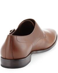 Hugo Boss Mattion Double Monk Strap Loafer Medium Brown