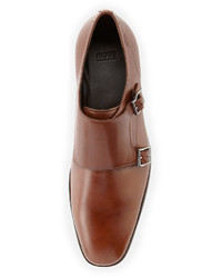 Hugo Boss Mattion Double Monk Strap Loafer Medium Brown