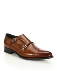 To Boot New York Double Buckle Monk Strap Loafers