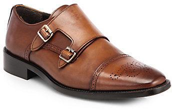 To Boot New York Mason Leather Double Monk Strap Dress Shoes