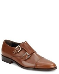 Bruno Magli Wesley Leather Monk Strap Shoes