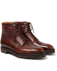 John Lobb Alder Burnished Leather Boots