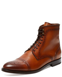 Antonio Maurizi Leather Lace Up Boot
