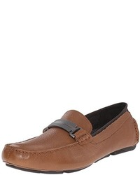 Calvin Klein Maxim Tumbled Leather Slip On Loafer