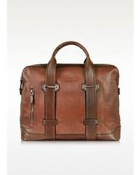 The Bridge By Pininfarina Marrone Leather Messenger Briefcase