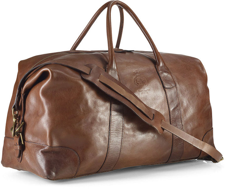 9c36192eaefc ... Brown Leather Duffle Bags Polo Ralph Lauren Core Leather Duffle Bag ...