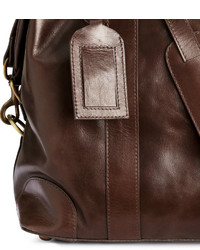 Men's Brown Leather Duffle Bag from H & M | Men's Fashion