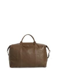 Longchamp Le Pliage Leather Duffel Bag