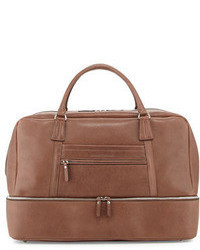 Leather bottom compartt duffle bag brown medium 43053