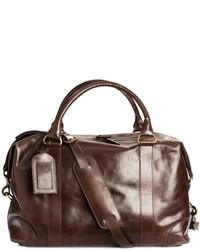 H&M Leather Weekend Bag Tawny Brown
