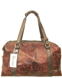Sm By Nature Distressed Leather Duffle