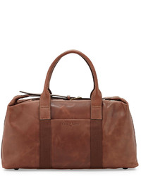 Christian Lacroix The Spy Ii Leather Duffle Bag Brown