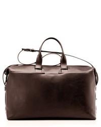 Troubadour leather weekend bag brown medium 430506