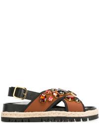 Marni Espadrille Fussbett Sandals