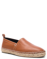Loewe Leather Anagram Espadrilles In Brown