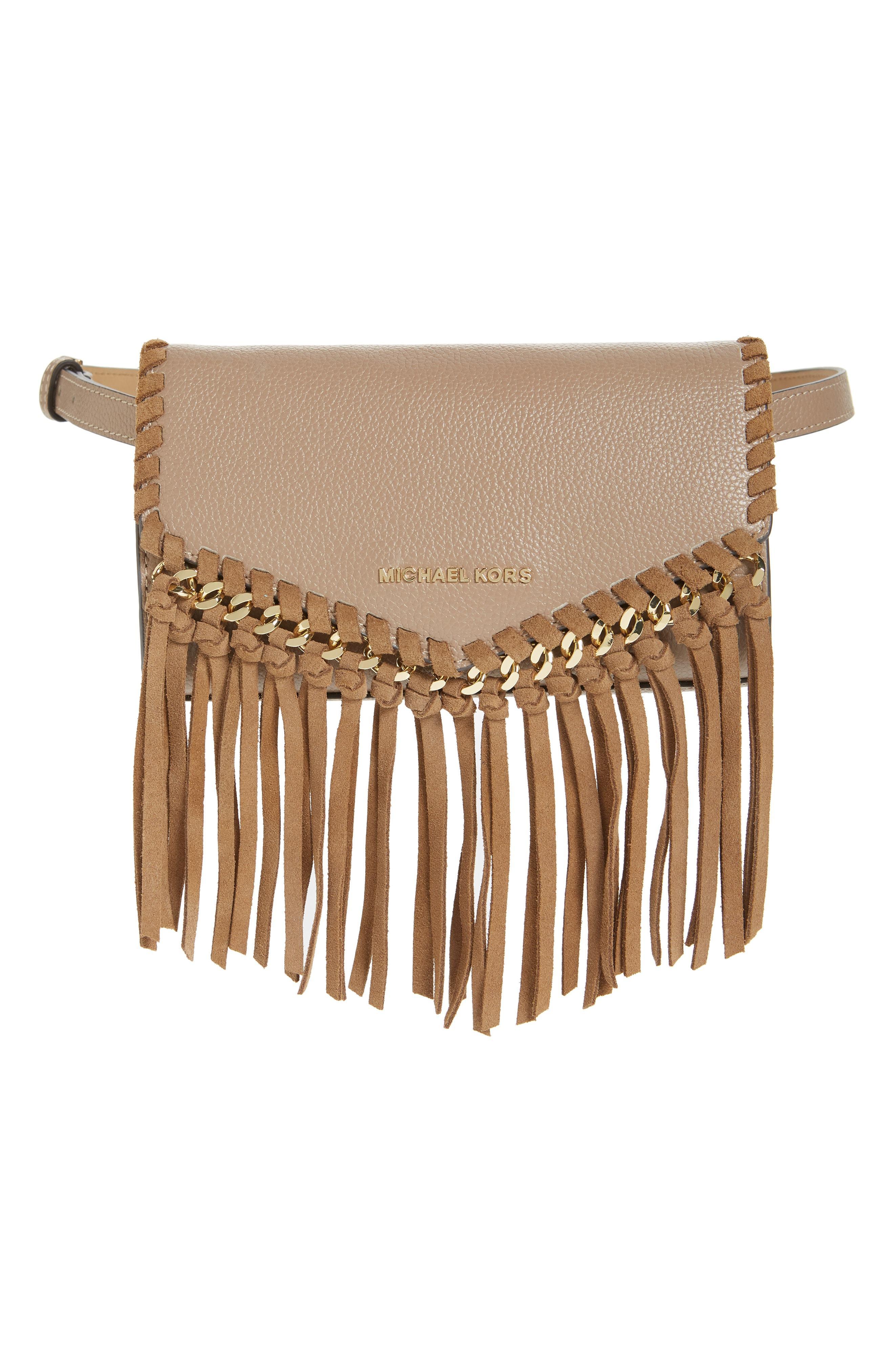 cbe7a5e61664 MICHAEL Michael Kors Fringe Leather Belt Bag, $81 | Nordstrom ...