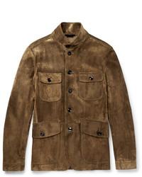 Icon military slim fit suede field jacket medium 6711302